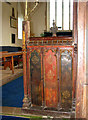 TL9585 : St Mary's church - rood screen panels by Evelyn Simak