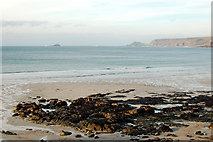 SW3526 : North from Sennen Cove to Cape Cornwall and The Brisons islands by Andy F