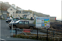 SW3526 : The car park and the Old Success Inn, Sennen Cove by Andy F