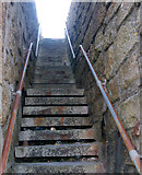 SW3526 : Steps from the foreshore up to the car park, Sennen Cove by Andy F