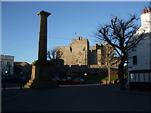 SC2667 : Castle Rushen in winter sunlight Castletown by Richard Hoare