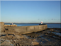 SC2667 : Breakwater and lighthouse at Castletown harbour by Richard Hoare