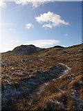 SN7767 : Frozen bog stream, Pen y Bryn by Rudi Winter