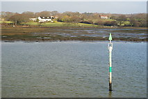 SZ3394 : Channel Marker, River Lymington by Peter Trimming