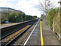 TL9787 : View west along the railway line from Harling Road station by Evelyn Simak