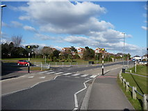 SZ0895 : Bournemouth : Redhill Drive Zebra Crossing by Lewis Clarke