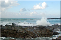 SW5842 : Winter waves at Godrevy (2) by Andy F