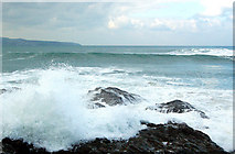 SW5842 : Winter waves at Godrevy (6) by Andy F