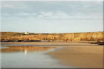 SW5742 : Looking northeast across Godrevy beach at low water by Andy F