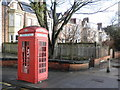 NZ3571 : Grade 2 listed telephone box, near Whitley Bay Metro Station by Roger Cornfoot