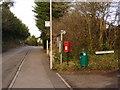 SY7387 : Broadmayne: postbox № DT2 192, Knighton Lane by Chris Downer