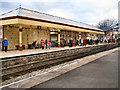SD7916 : Ramsbottom Station platform 2 by David Dixon