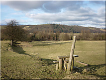 SD5464 : Stile near Brookhouse by Karl and Ali