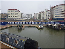 ST5772 : Narrow boat moorings, Bristol Floating Harbour by Peter Barr