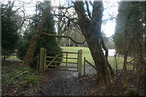 TQ4540 : Gate on the Sussex Border Path, near Waystrode Manor by N Chadwick