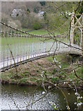 SH7956 : Suspension Foot Bridge - Betws-Y-Coed by Chris Page