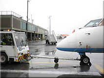 NZ1871 : Airport apron, Newcastle International by Roger Cornfoot