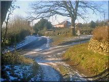 SO2755 : Lane junction at Lower Hergest by Trevor Rickard