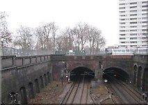 TQ2785 : Gospel Oak: Site of the former Haverstock Hill railway station by Nigel Cox