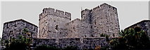SC2667 : Castletown - Castle Rushen - Panoramic by Joseph Mischyshyn