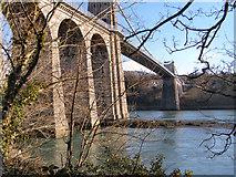 SH5571 : Menai Suspension Bridge by David Dixon