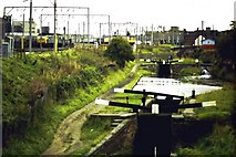 SO9199 : Canals and railways, Wolverhampton by Michael Westley