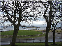 NT1977 : Causeway to Cramond Island by michael ely