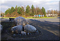 SD4563 : Roundabout on Morecambe Road by Ian Taylor
