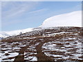 NN7277 : Quad tracks to summit of Meall na Spianaig by ian shiell
