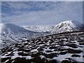 NN7277 : The summit ridge of Meall na Spianaig looking north-west by ian shiell