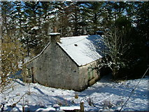 NG4162 : Derelict croft house at Balnaknock by Dave Fergusson