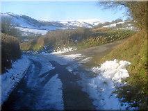 SO2554 : Lane junction at Upper Rabber by Trevor Rickard