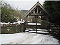 SJ2430 : House entrance arches at Glanaber, East of Rhydycroesau by John Firth