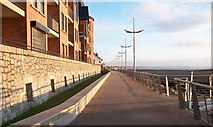 J3731 : View north along the Promenade from the Shimna Estuary Footbridge by Eric Jones