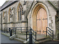 TQ3355 : Entrance to St Mary's church, Caterham by Stephen Craven