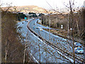 SH7678 : A55 eastbound from junction 17 (Conwy) by David Dixon