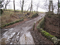 NY8262 : Bridge and Byway over Black Byre Burn by Les Hull
