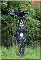 SP0580 : National Cycle Network Signpost near King's Norton, Birmingham by Roger  Kidd