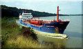 S6823 : Tanker, River Barrow near New Ross by Albert Bridge