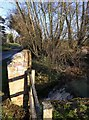 SP2346 : Weir and bridge by Talton Farm by David P Howard