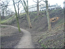 NT2674 : Path in London Road Gardens, looking westwards by kim traynor