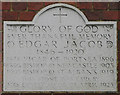 TQ4287 : St Andrew, St Andrew's Road, Ilford - Foundation stone by John Salmon