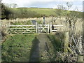 SM9031 : Entrance gate to Corsydd Llangloffan National Nature Reserve by Martyn Harries