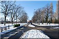 SZ6199 : Gosport under snow - Walpole Road (2) by Barry Shimmon