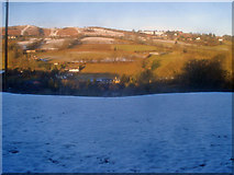 SO2856 : Snow covered field north of Ridgebourne Road by Trevor Rickard