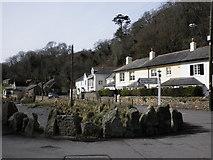 SX5548 : Cottages, at Bridgend, Newton Ferrers by Roger Cornfoot