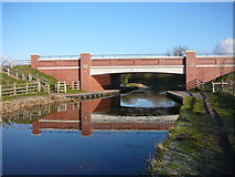 SK0419 : The new A51 Rugeley Bypass road bridge over the Trent & Mersey Canal by Colin Park