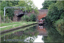 SP0483 : Bridges over the canal and the railway, Edgbaston, Birmingham by Roger  Kidd