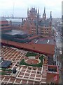 TQ3082 : British Library courtyard from adjacent hotel by David Gearing