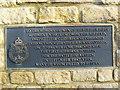 SU0791 : Plaque, Memorials, RAF Blakehill Farm, near Cricklade (2 of 3) by Brian Robert Marshall